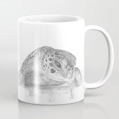 A Green Sea Turtle :: Grayscale Mug
