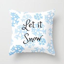 Let it Snow Snowflakes Throw Pillow