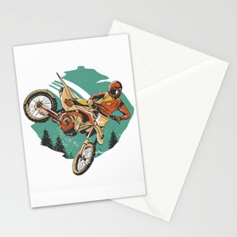 Freestyle Motorcycle Stunts FMX Stationery Cards