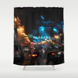 PORTLAND OREGON - GLOWS IN THE RAIN AND NIGHT LIGHTS Shower Curtain