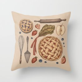 Pie Baking Collection Throw Pillow