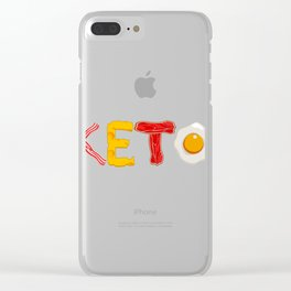 Keto Diet Ketosis graphic For Low Carb High Fat Ketogenic Diet Clear iPhone Case