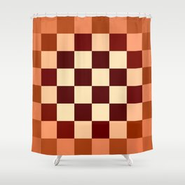 JPEG Compression Quads 3 Shower Curtain