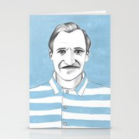 budapest hotel Stationery Cards featuring Ralph Fiennes. The Grand Budapest Hotel.  by Elena O'Neill