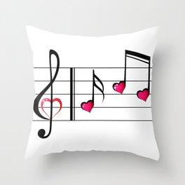 Music love concept Throw Pillow