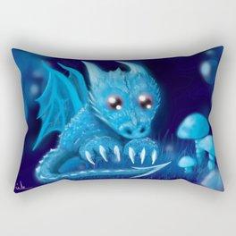 Blue Bubble Bop Rectangular Pillow