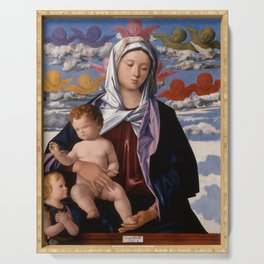 """Giovanni Bellini """"Madonna and Child with St. John the Baptist"""" Serving Tray"""