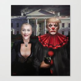 Political Gothic Canvas Print