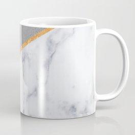 MARBLE TEAL GOLD GRAY GEOMETRIC Coffee Mug