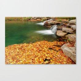 Autumn Landscape Twin River Falls - Missouri Canvas Print