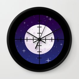 Aim for the Moon Wall Clock
