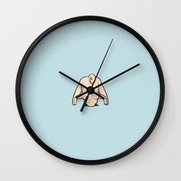 Wide-Legged Forward Bend Pug Wall Clock