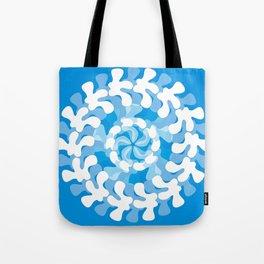 Blue Swirl Tote Bag