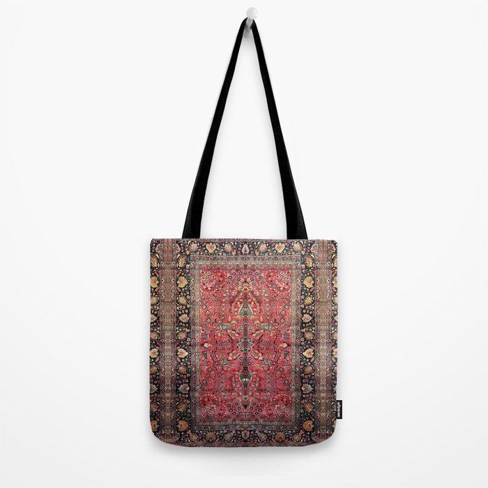 Antique Persian Red Rug Tote Bag