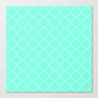 moroccan Canvas Prints featuring Mint Moroccan by Beautiful Homes