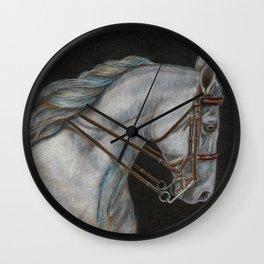 White Arabian Wall Clock