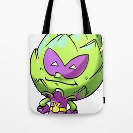 Artichoke Alien Foodietoon Veggie Superheroes Tote Bag