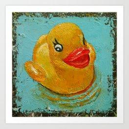 Rubber Duck Art Print