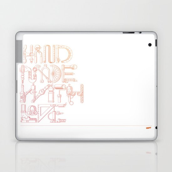 Hand Made With Love Laptop & iPad Skin