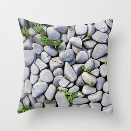 Sea Stones - Gray Rocks, Texture, Pattern Throw Pillow