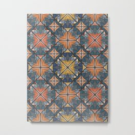 Mexican Tile Metal Print
