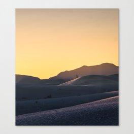 Walking The Dunes 2 Canvas Print
