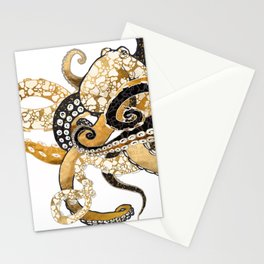 Metallic Octopus Stationery Cards