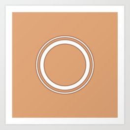 Circles | Orange Art Print