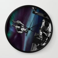 vertigo Wall Clocks featuring Vertigo by icontrive