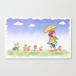 Duckling March Canvas Print