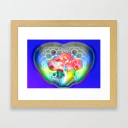 Bathing in love and soap ... Framed Art Print