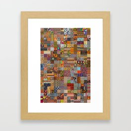 Ethnic Patterns Framed Art Print