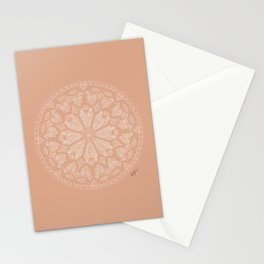 Pink Rose Window Stationery Cards