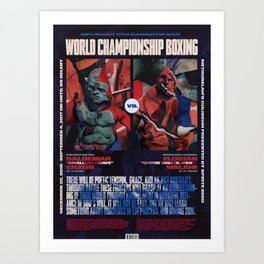 World Championship Boxing II Art Print