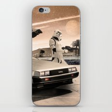 2 Stormtrooopers in a Hover DeLorean  iPhone & iPod Skin