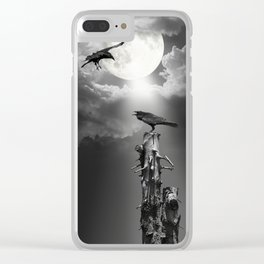 The Raven at midnight Clear iPhone Case