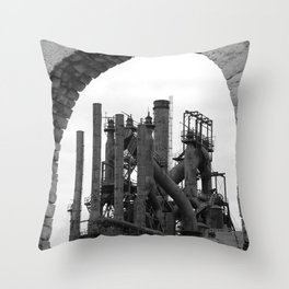 Bethlehem Steel Blast Furnace 7 Throw Pillow