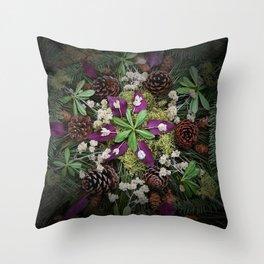Nature Mandala: November Throw Pillow
