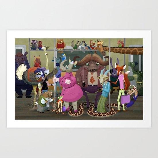 MTA Zoo Art Print