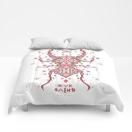 Stag Beetle Ornament Comforters