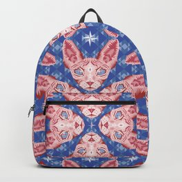 Sphynx Cat - Rose Quartz and Serenity version Backpack