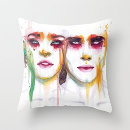 Silence and Echo Throw Pillow