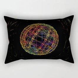 Neon String Ball Rectangular Pillow