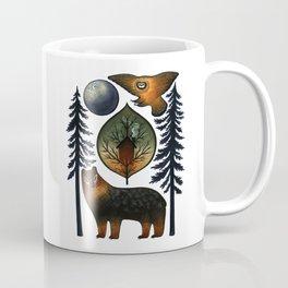 The Bear and the Barn Owl Coffee Mug