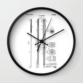 patent art Barret Billiard cue 1929 Wall Clock