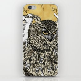 African Eagle Owl by MaxillaMellifer, aka Rosemary Knowles iPhone Skin
