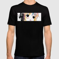 Yuki Remix Blocked MEDIUM Black Mens Fitted Tee