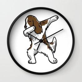 Funny Dabbing English Springer Dog Dab Dance Wall Clock