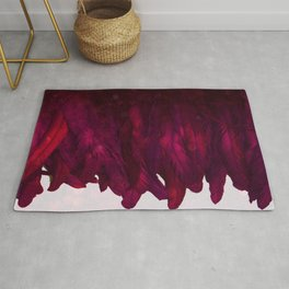 Cranberry Feathers Rug