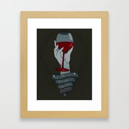 Draculas Wine Framed Art Print